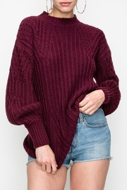 HYVE Bubble Sleeve Sweater - Front cropped