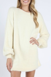 Wild Honey Bubble Sleeve Sweater Dress - Front cropped