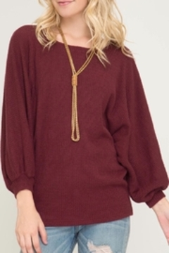 LuLu's Boutique Bubble Sleeve Top - Product List Image