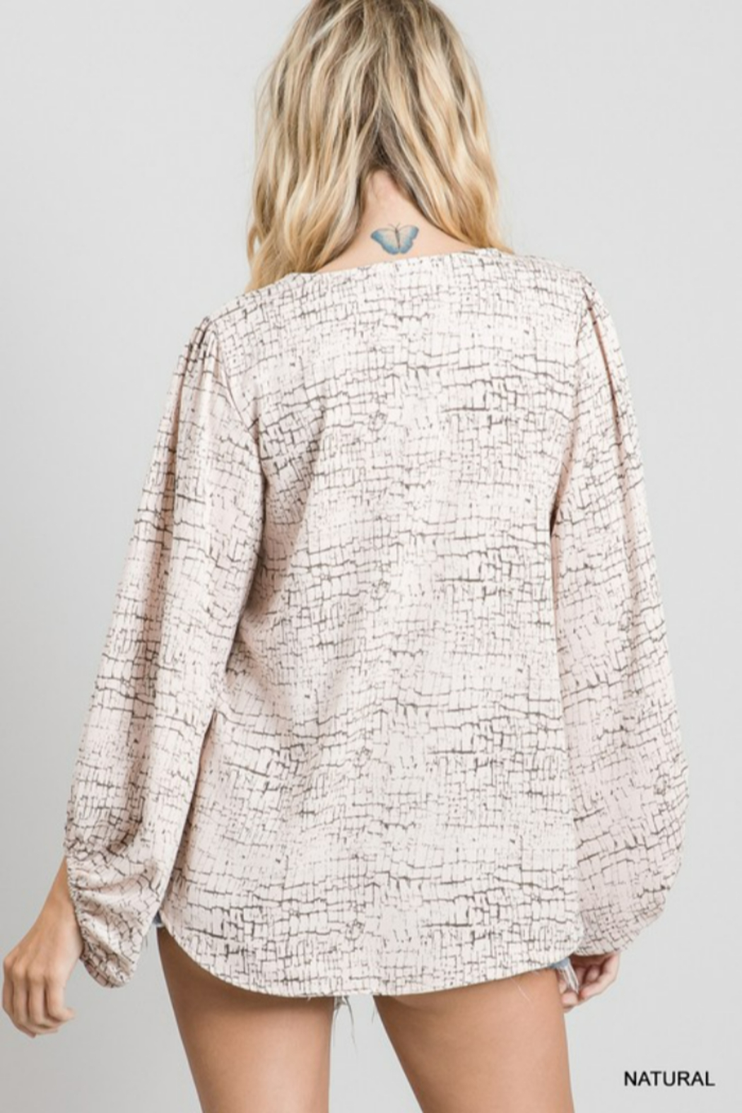 Jodifl Bubble Sleeve Top - Front Full Image