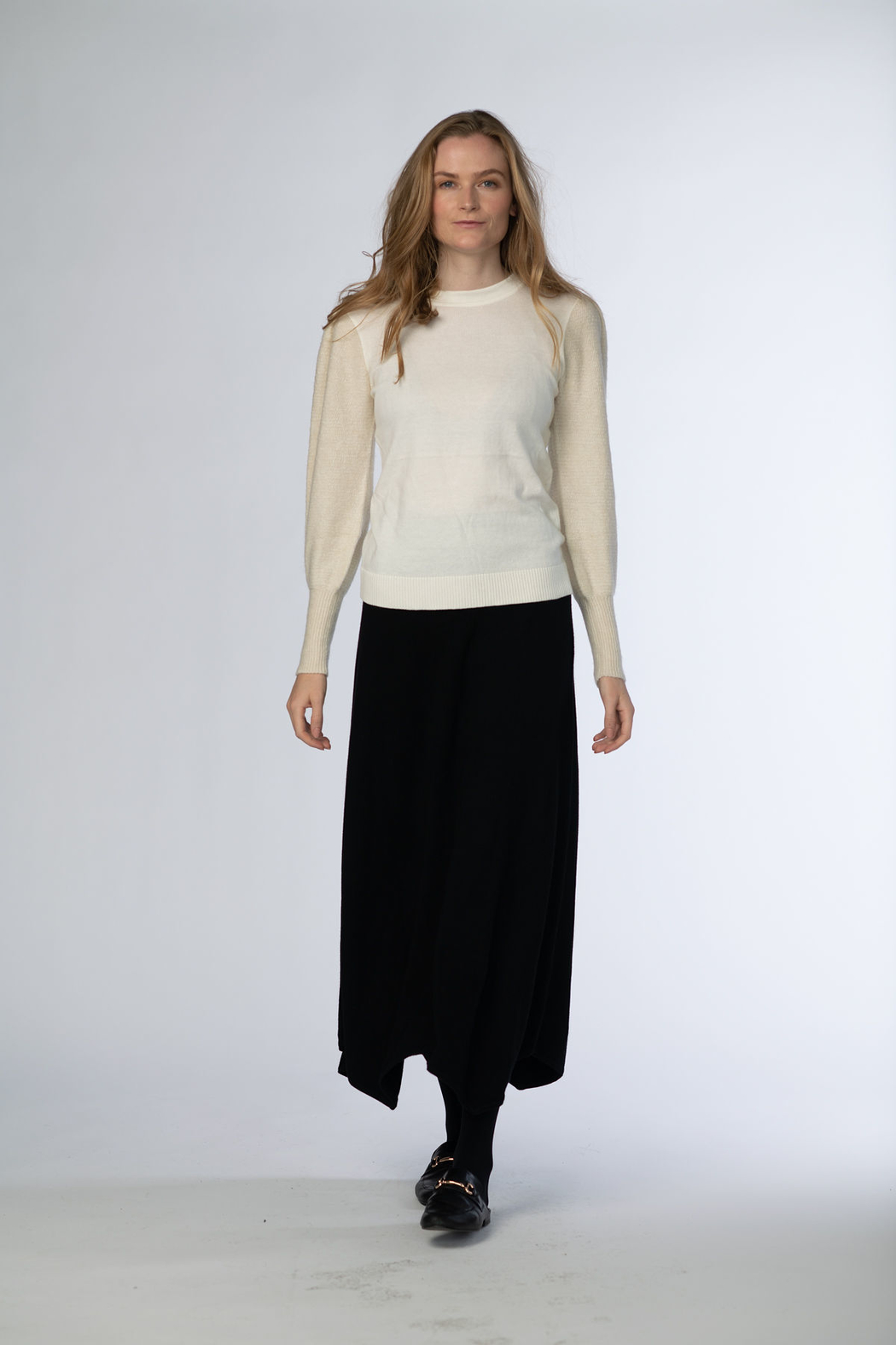 Meli by FAME Bubble Sweater - Front Cropped Image
