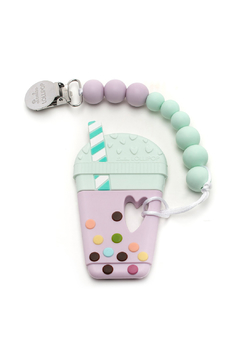 loulou LOLLIPOP Bubble Tea Silicone Teether with Holder - Alternate List Image