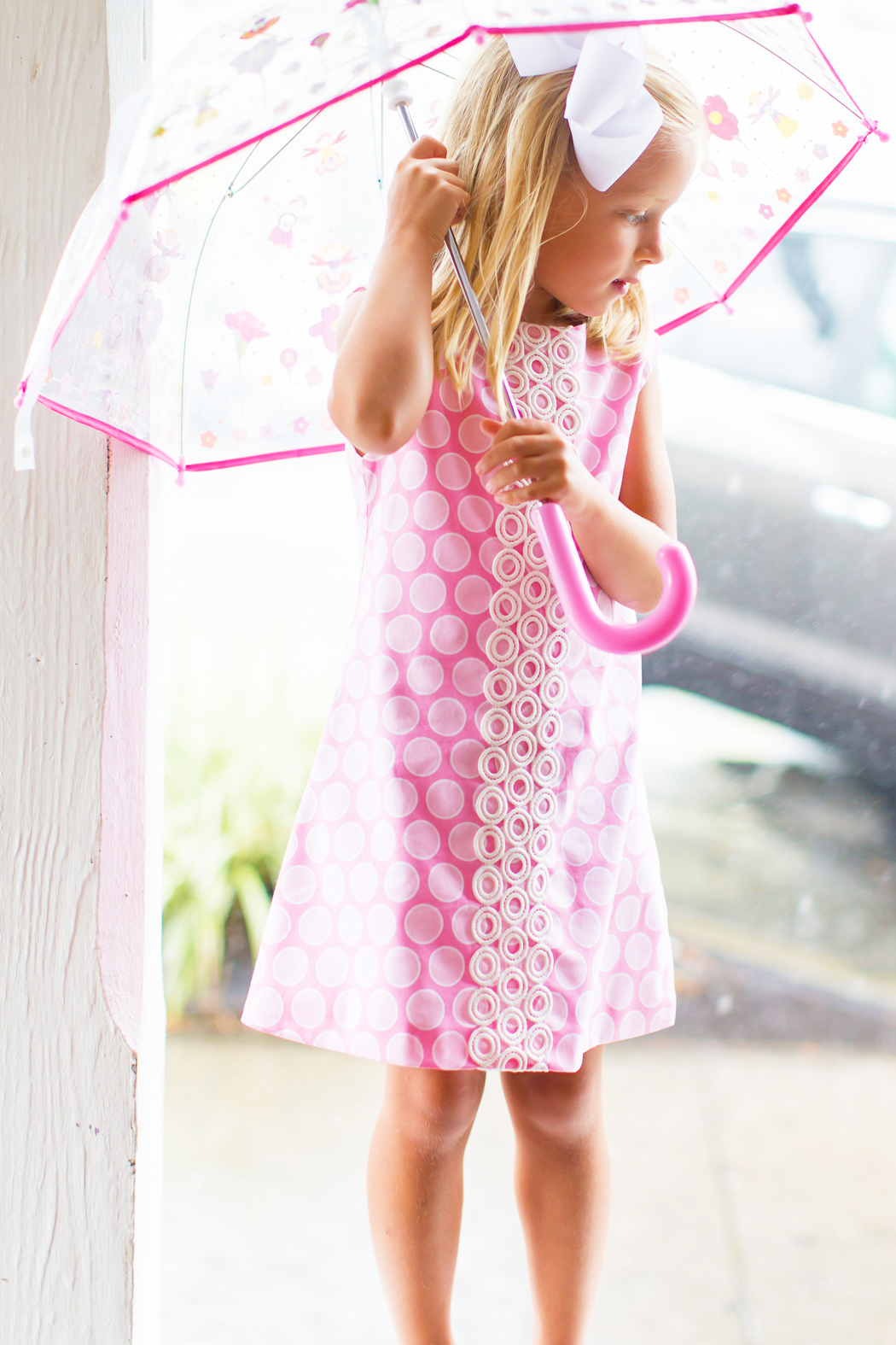 Bailey Boys Bubblegum Dot A-Line Dress - Front Full Image