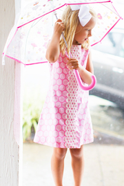 Bailey Boys Bubblegum Dot A-Line Dress - Front full body