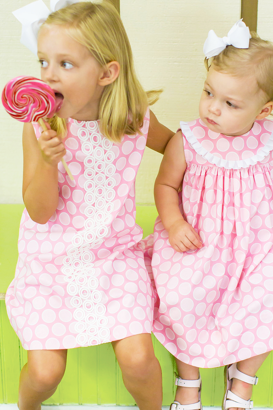 Bailey Boys Bubblegum Dot A-Line Dress - Main Image