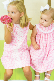 Bailey Boys Bubblegum Dot A-Line Dress - Front cropped