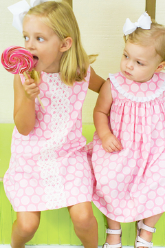 Bailey Boys Bubblegum Dot A-Line Dress - Product List Image