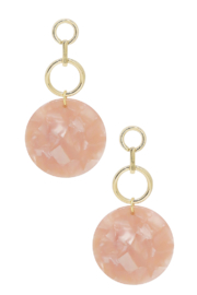 Ettika Bubblegum Pink Resin Drop Earrings - Product Mini Image