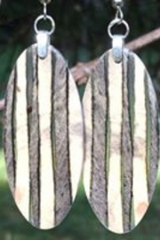 Forest Life Creations Buckeye Stripes Small fishhook earrings - Product Mini Image