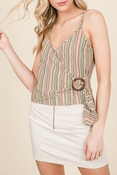 Lumiere Buckle Detail Wrap Tank - Product List Image