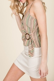 Lumiere Buckle Detail Wrap Tank - Side cropped