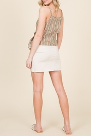 Lumiere Buckle Detail Wrap Tank - Front full body