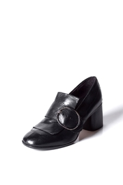 Keep Buckle Heeled Loafer - Front full body