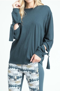 Shoptiques Product: Buckled Sleeve Top