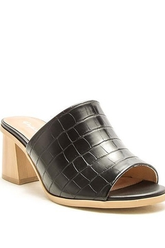 Qupid Bucky Croco Heels - Product List Image