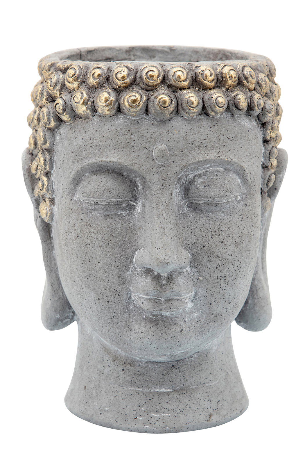 Sagebrook Home BUDDHA HEAD PLANTER - Front Full Image