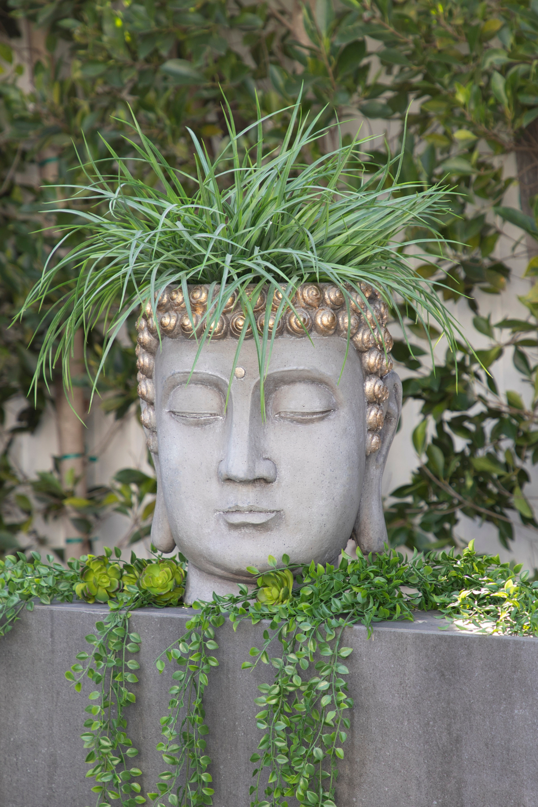 Sagebrook Home BUDDHA HEAD PLANTER - Front Cropped Image