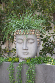 Sagebrook Home BUDDHA HEAD PLANTER - Front cropped