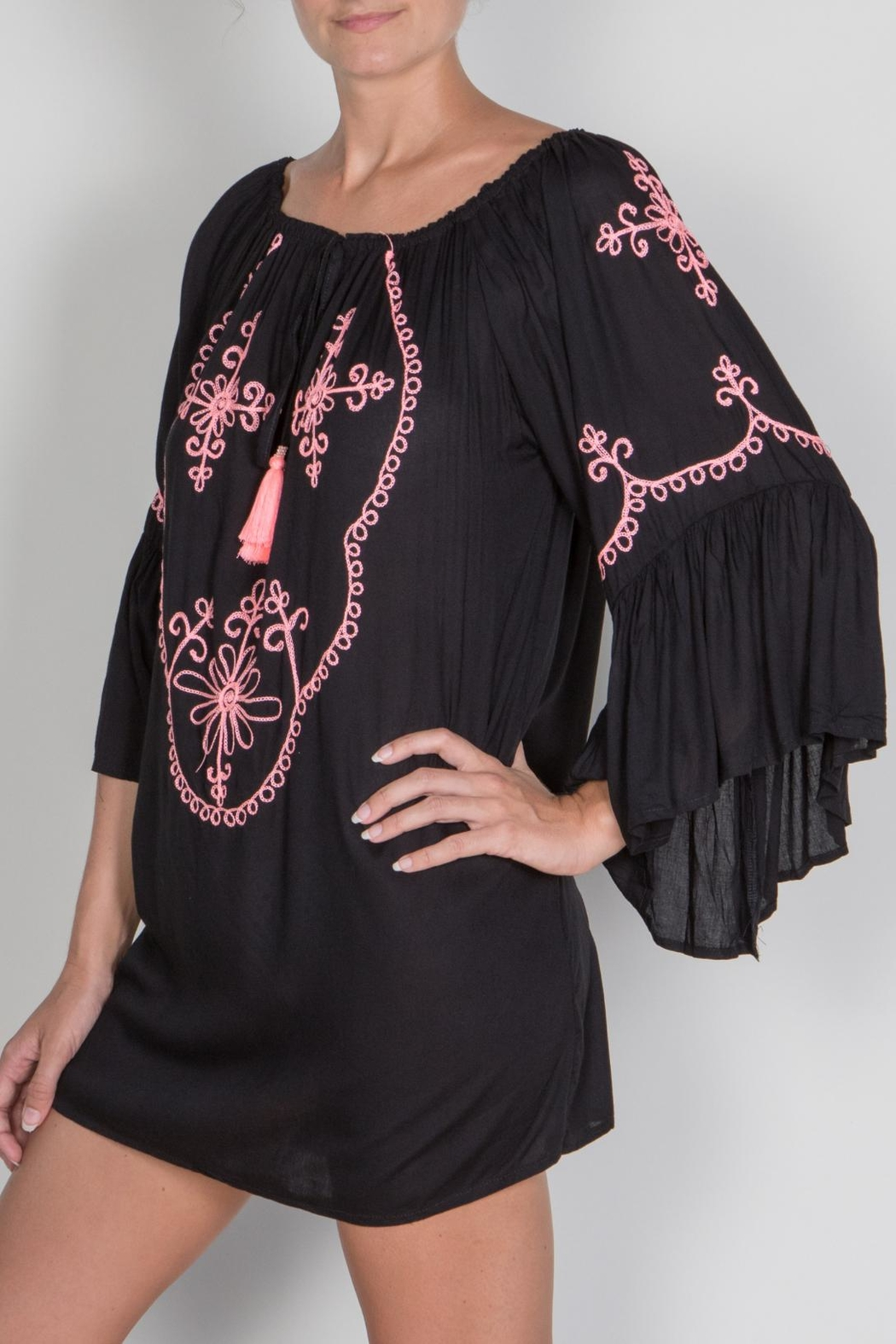 Buddha Sayulita Camila Embroidered Dress - Main Image