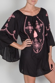 Buddha Sayulita Camila Embroidered Dress - Front full body
