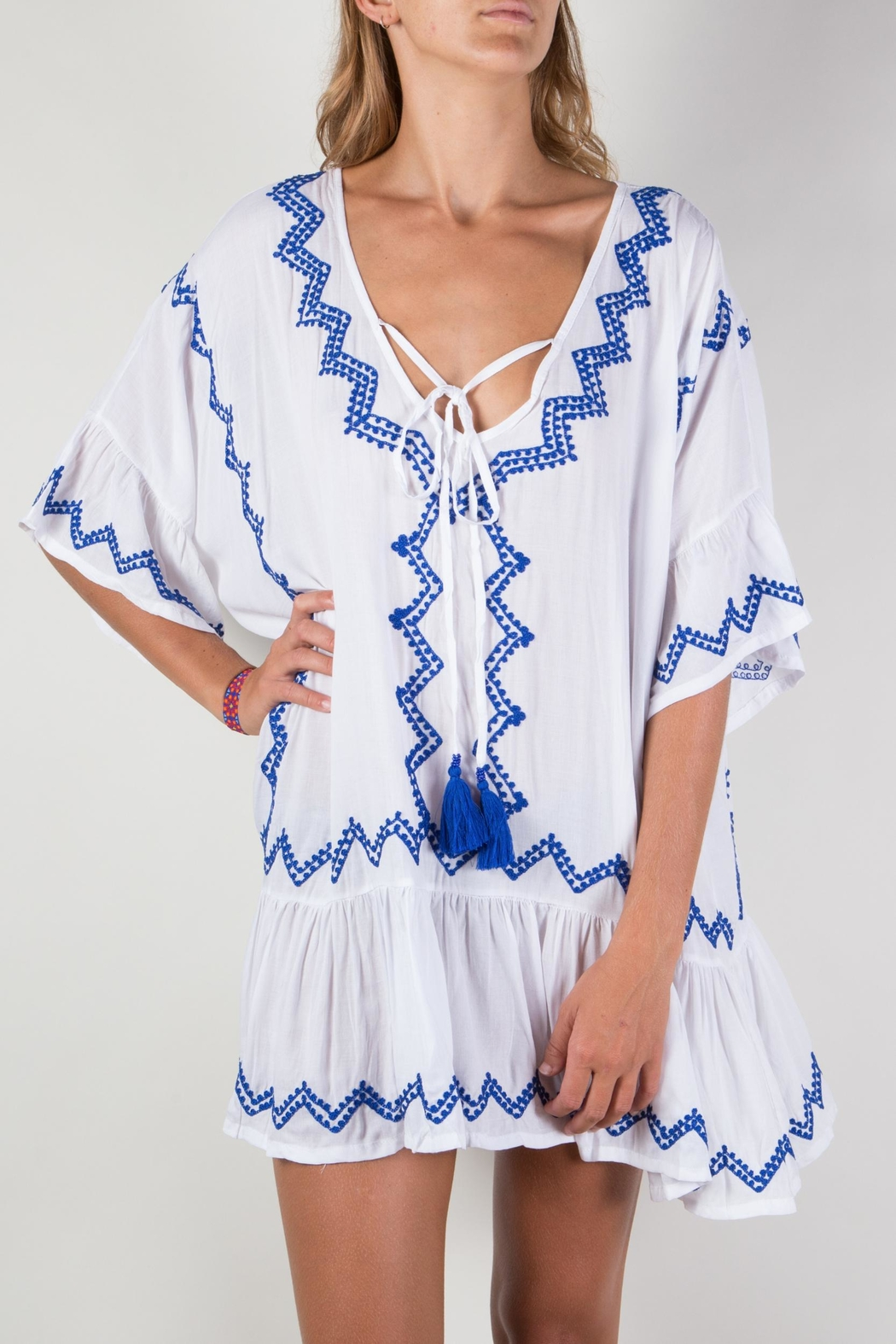 Buddha Sayulita Eva Dress - Front Cropped Image
