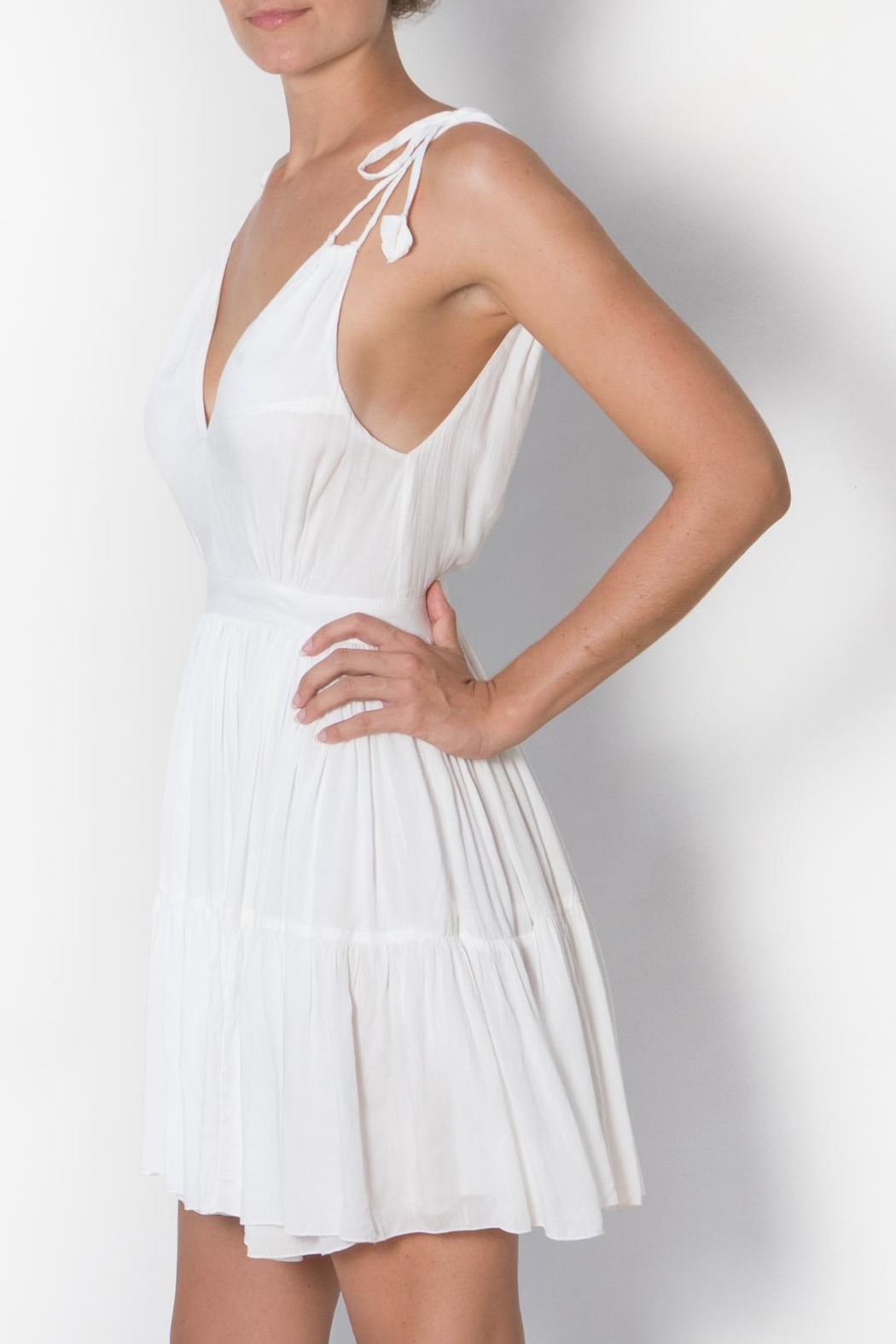 Buddha Sayulita Flirty Sweet Romantic Dress - Side Cropped Image