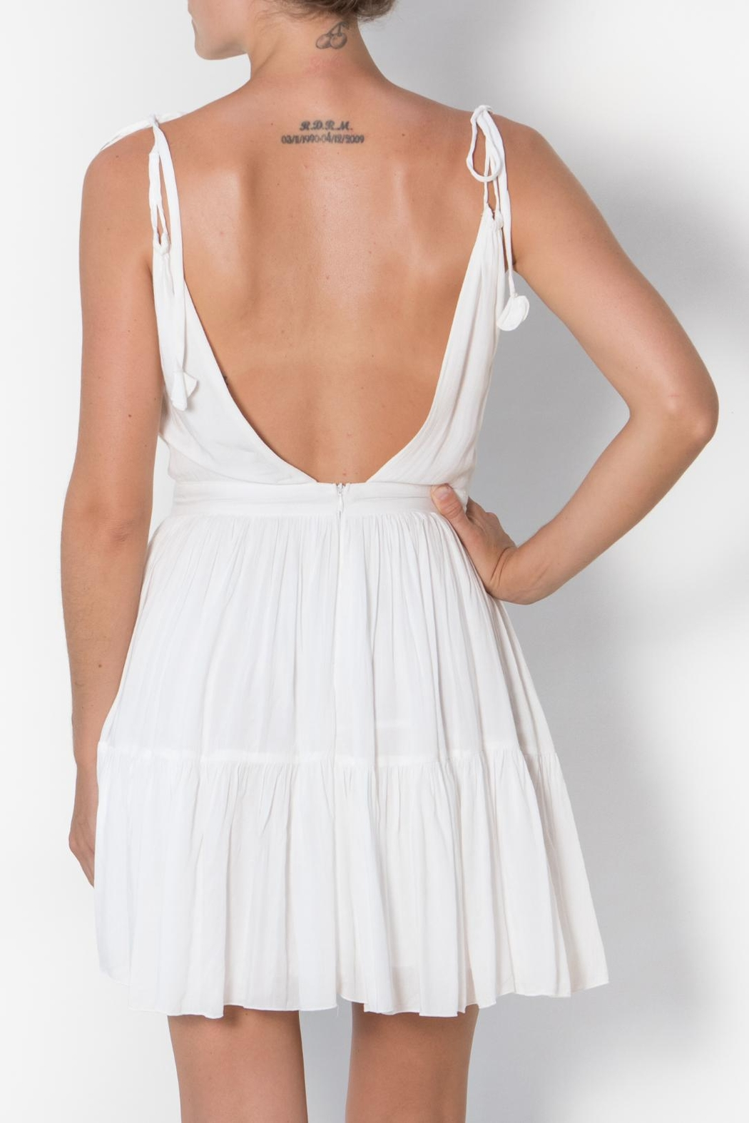 Buddha Sayulita Flirty Sweet Romantic Dress - Back Cropped Image
