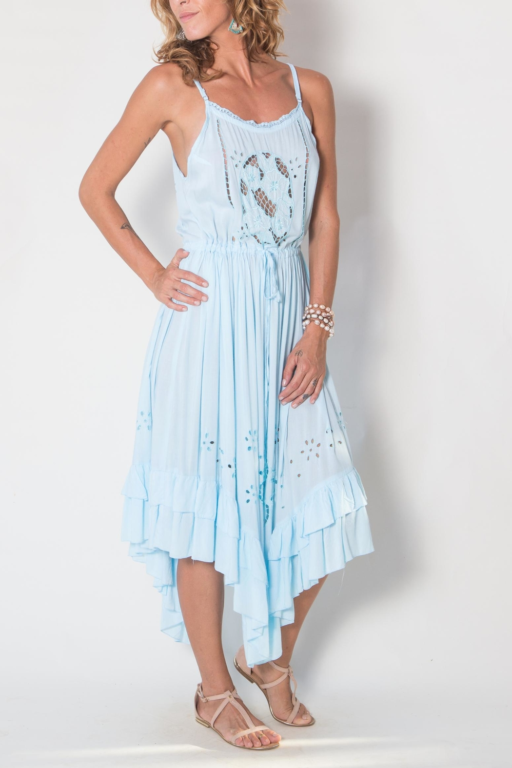 Buddha Sayulita Flowerchild Dress - Side Cropped Image