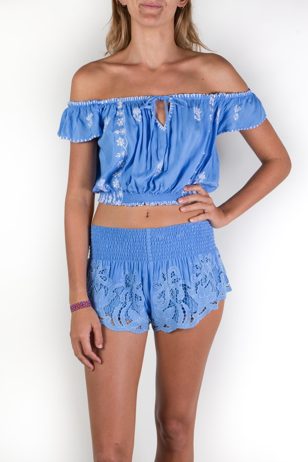 Buddha Sayulita Fridha Embroidered Top - Front Cropped Image