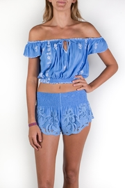 Buddha Sayulita Fridha Embroidered Top - Front cropped