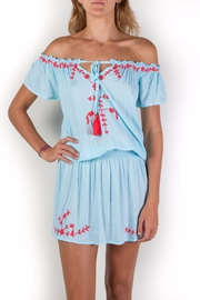 Buddha Sayulita Isa Embroidered Dress - Product Mini Image