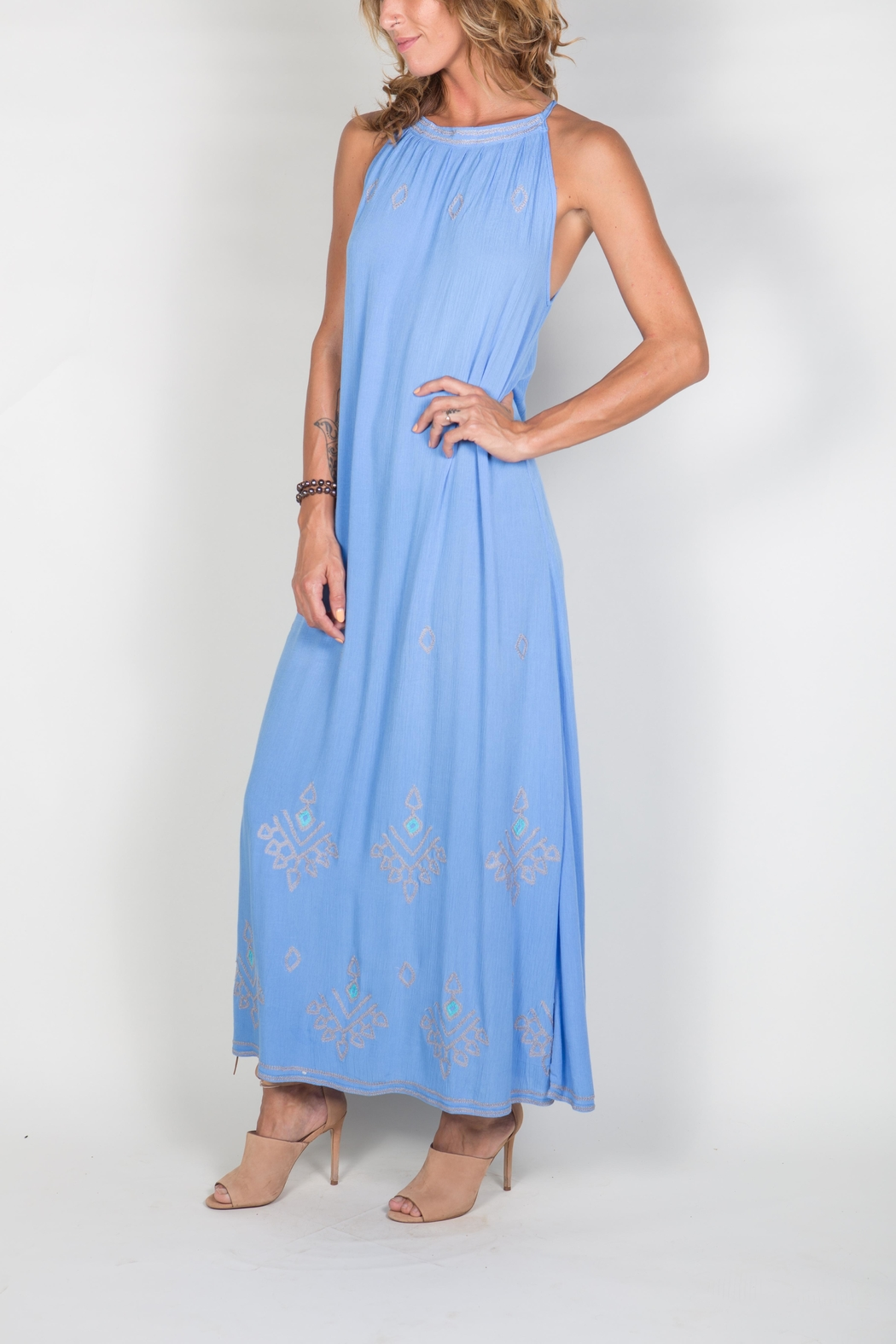 Buddha Sayulita Stella Long Dress - Side Cropped Image