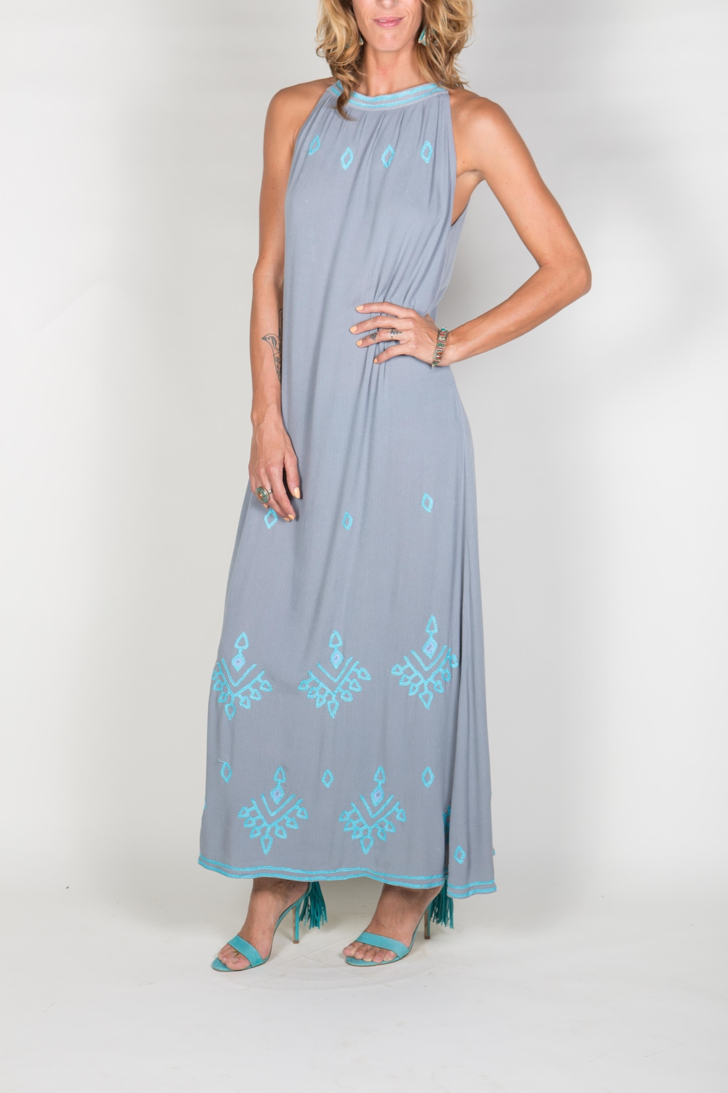 Buddha Sayulita Stella Long Dress - Front Full Image