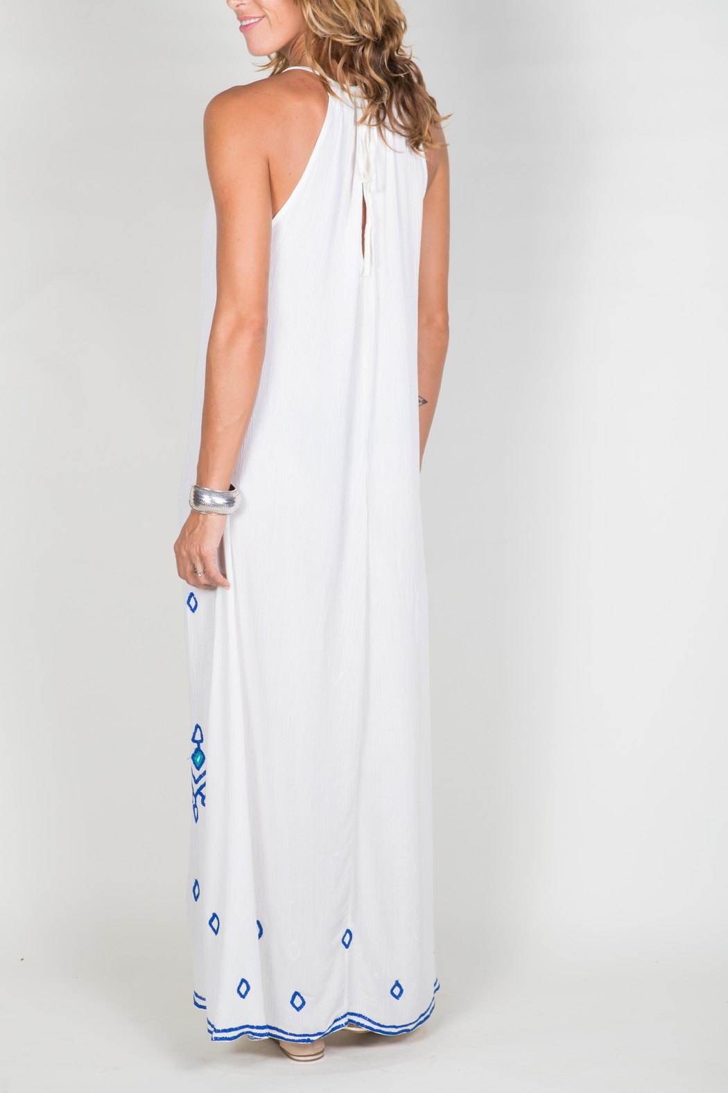 Buddha Sayulita Stella Long Dress - Back Cropped Image