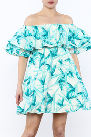 Buddy Love Turquoise Off-Shoulder Dress - Product Mini Image