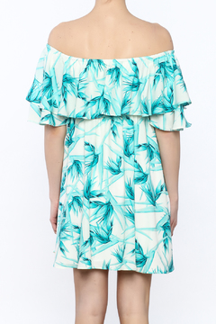 Buddy Love Turquoise Off-Shoulder Dress - Alternate List Image