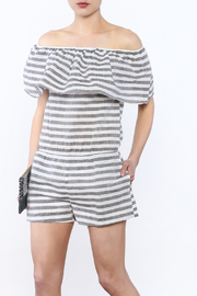 Buddy Love Grey Stripe Romper - Product Mini Image