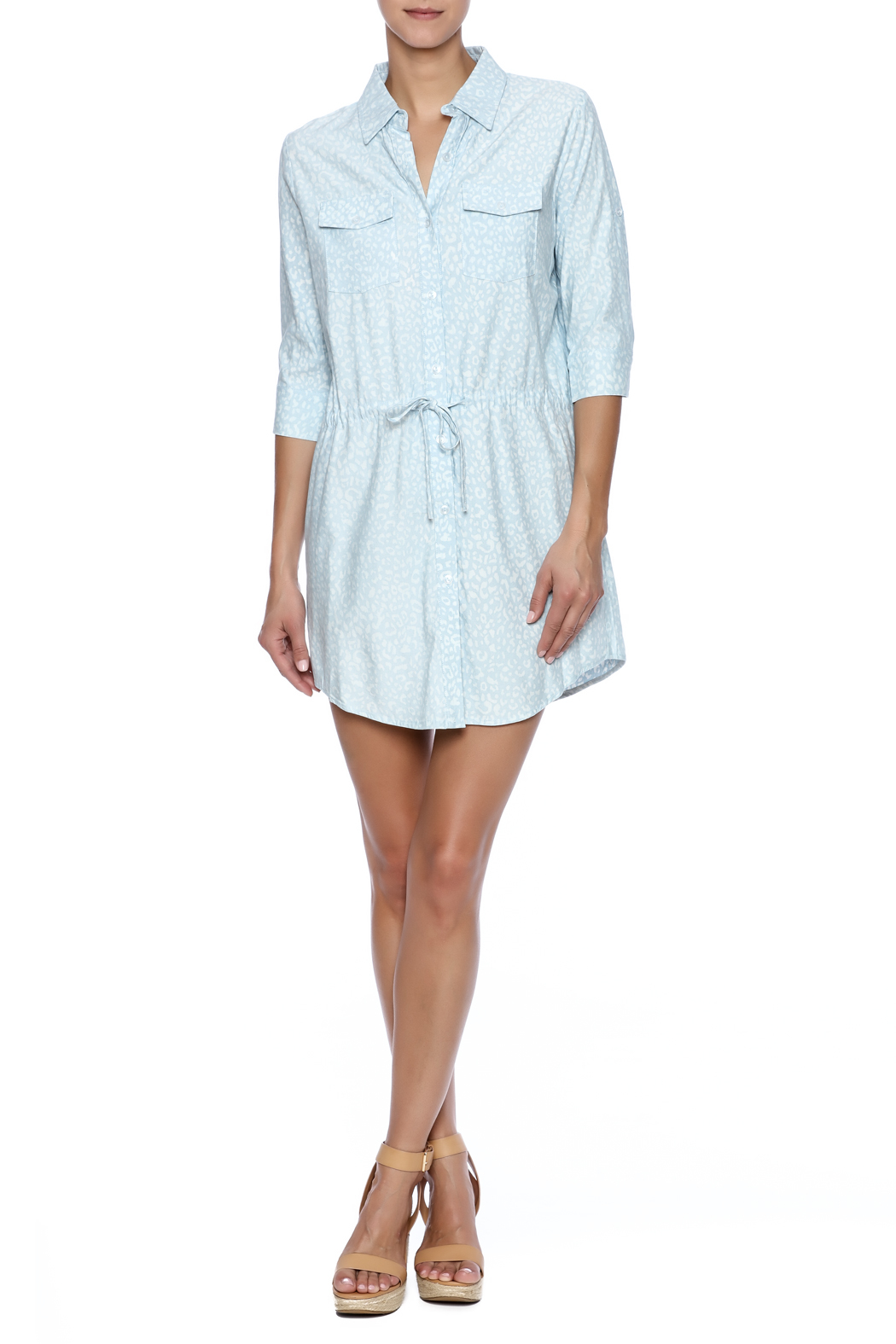 Buddy Love Orlando Shirt Dress - Front Full Image