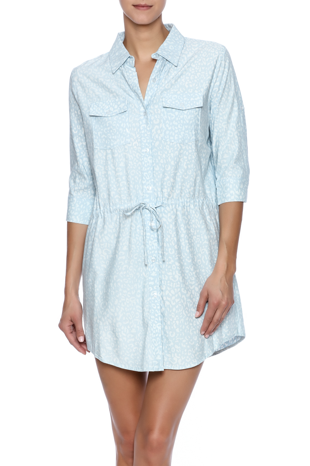 Buddy Love Orlando Shirt Dress - Front Cropped Image