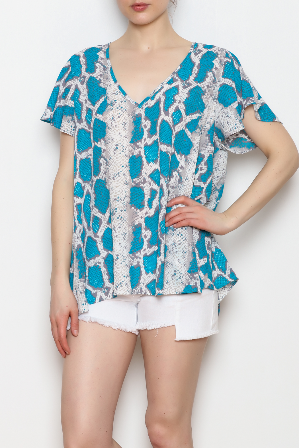 Buddy Love Python Print Top - Side Cropped Image