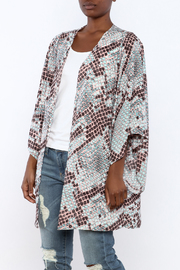 Buddy Love Snake Printed Kimono - Product Mini Image