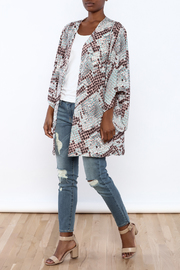 Buddy Love Snake Printed Kimono - Front full body
