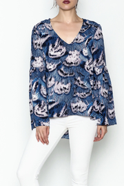 Buddy Love Peacock Printed Blouse - Product Mini Image