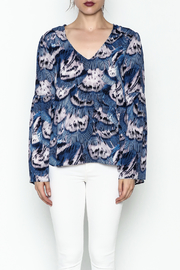 Buddy Love Peacock Printed Blouse - Front full body