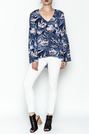 Buddy Love Peacock Printed Blouse - Side cropped