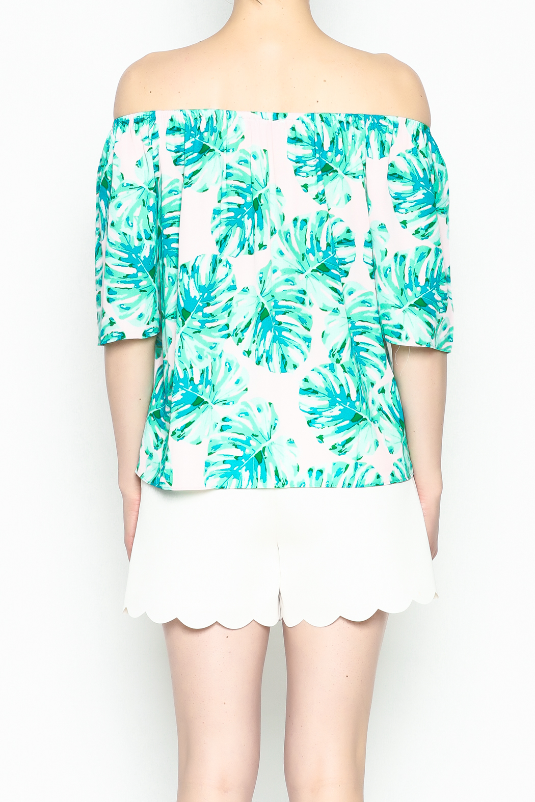 Buddy Love Tropical Cosmopolitan Top - Back Cropped Image