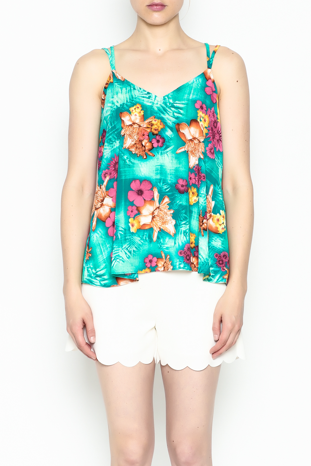 Buddy Love Tropical Kendall Top - Front Cropped Image