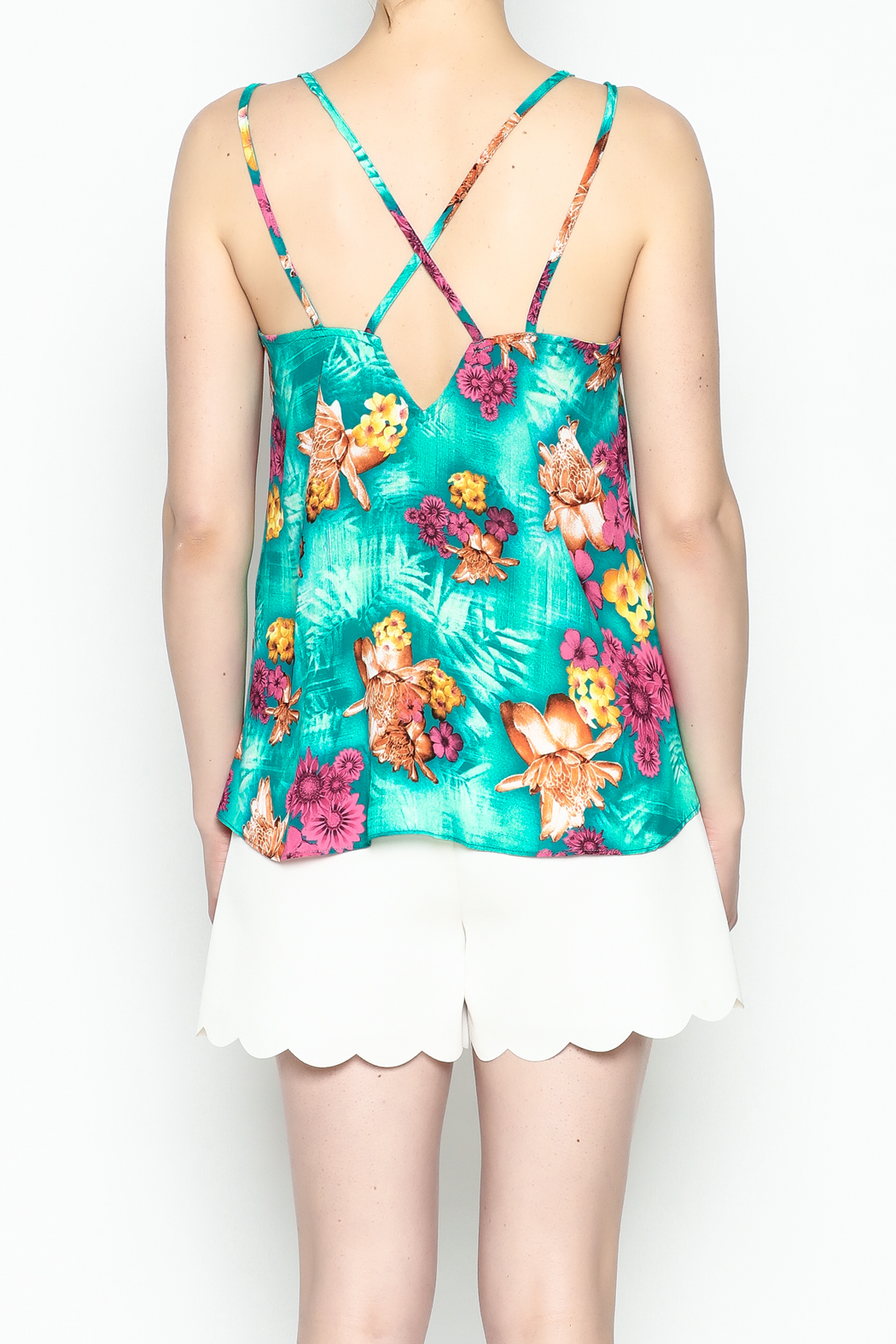 Buddy Love Tropical Kendall Top - Back Cropped Image