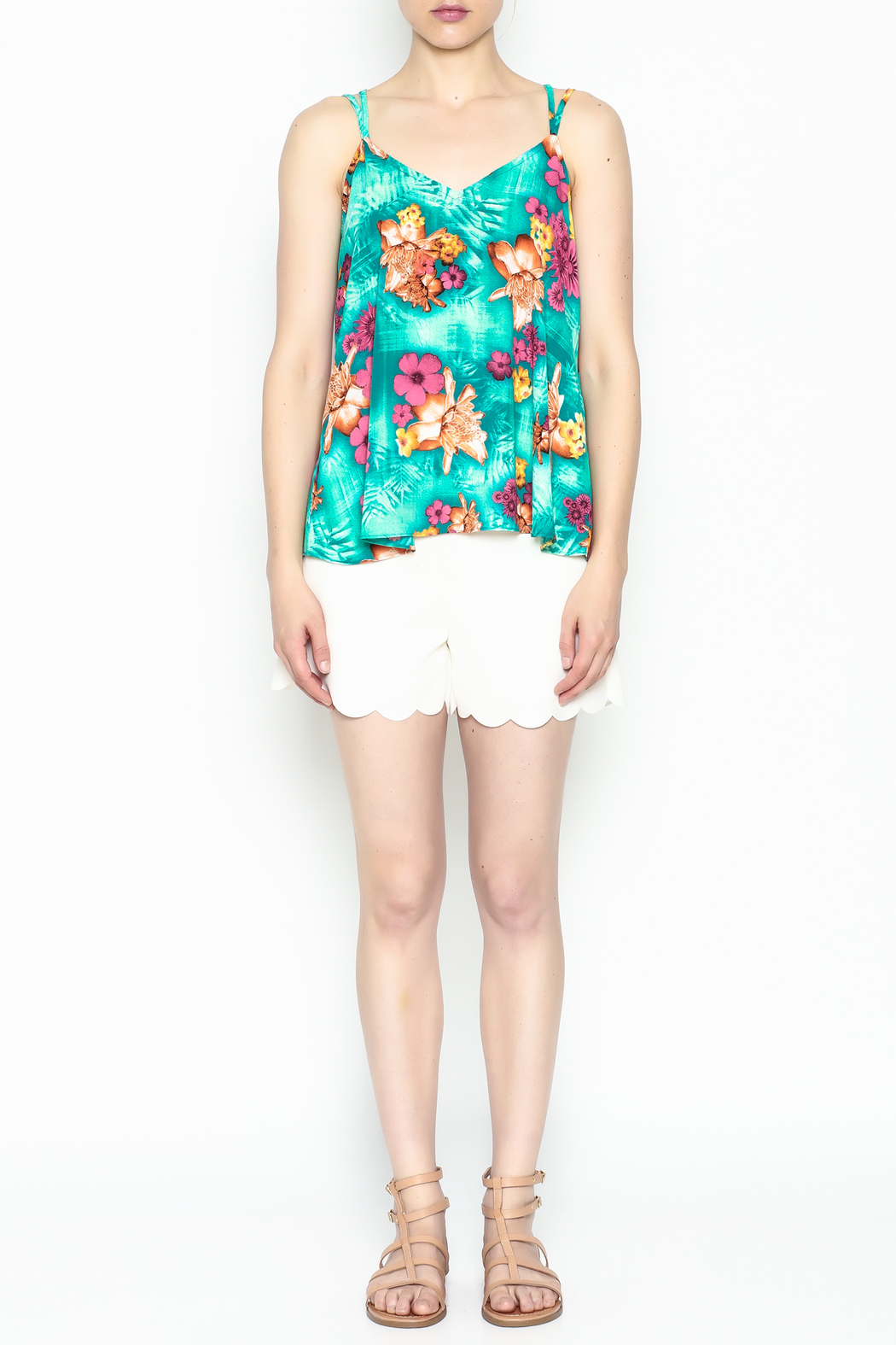 Buddy Love Tropical Kendall Top - Front Full Image