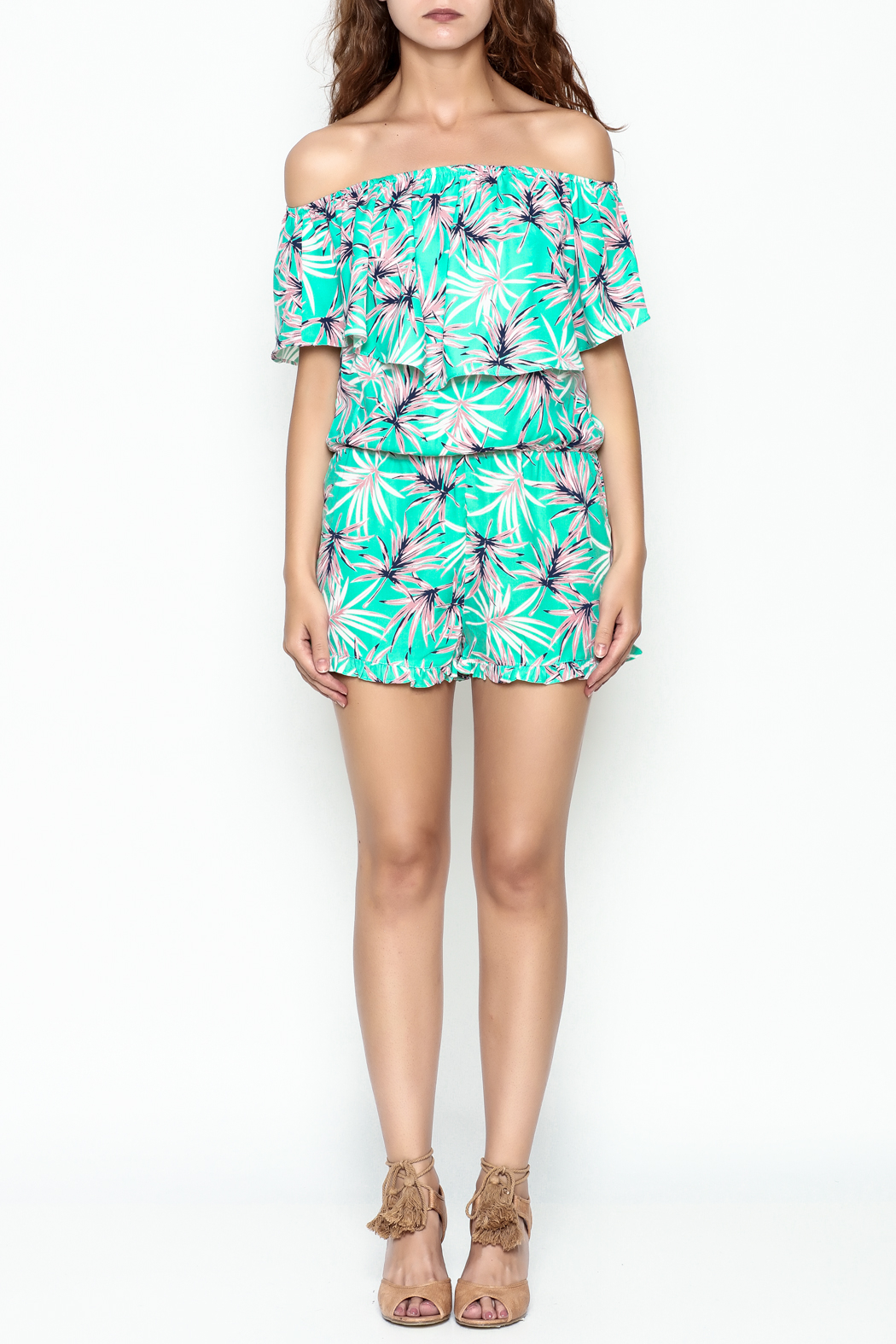 Buddy Love Tropical Mojito Romper - Front Full Image